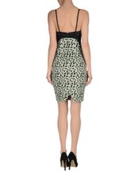 Au Jour Le Jour - Green Short Dress - Lyst