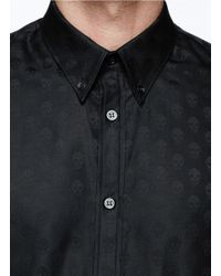 Alexander McQueen Black Allover Skull Jacquard Shirt for men