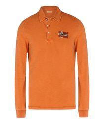 Napapijri | Orange Polo Shirt for Men | Lyst
