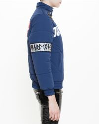 Filles A Papa Blue Patch Embellished Puffa Jacket