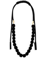 Marni Black Rope Balls Necklace