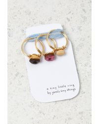 Forever 21 - Metallic Janes Tiny Things Donut Midi Ring Set - Lyst