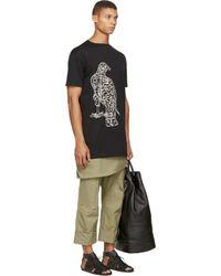 Thamanyah - Black Bird Print T_shirt for Men - Lyst