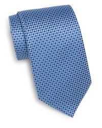 Burma Bibas | Blue Micro Check Silk Tie & Gift Box for Men | Lyst