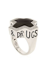 Stephen Webster Black Highwayman Ring
