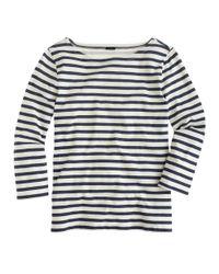 J.Crew | Blue Striped Boatneck T-shirt | Lyst