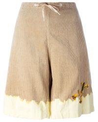 Bernhard Willhelm | Natural Two-tone Corduroy Shorts | Lyst