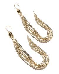 Elisabetta Franchi - Metallic Earrings - Lyst