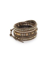 Chan Luu - Black Beaded Wrap Bracelet - Abalone Mix - Lyst