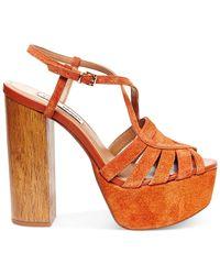 Steve Madden - Brown Gingur Platform Sandals - Lyst