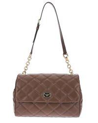 Dolce & Gabbana   Brown Quilted Shoulder Bag   Lyst