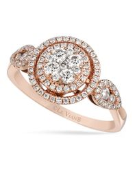 Le Vian | Pink Diamond Diamond Circle Ring (5/8 Ct. T.w.) In 14k Rose Gold | Lyst
