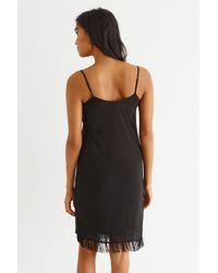 Oasis Black Fringed Hem Crepe Cami Dress