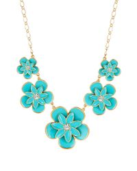 kate spade new york | Blue Graceful Floral Graduated Necklace | Lyst