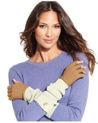 Vince Camuto - Natural Fine Gauge X-Long Fingerless Gloves - Lyst