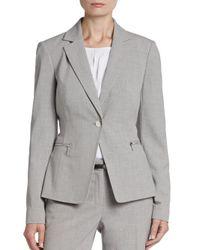 Calvin Klein - Gray Cross-dyed Blazer - Lyst