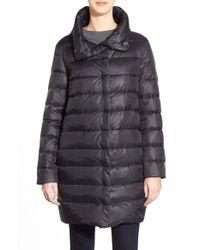 Eileen Fisher - Black Convertible Collar Down Puffer Coat - Lyst