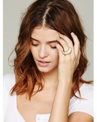 Free People - Metallic Crescent Ring - Lyst