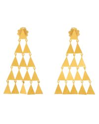 Marie-hélène De Taillac - Metallic 18Kt Yellow Gold Pyramid Earrings - Lyst