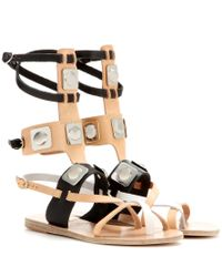 Ancient Greek Sandals - Natural Leather Gladiator Sandals - Lyst