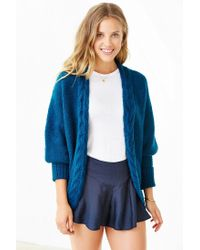 Glamorous - Blue Cozy Braid Cardigan - Lyst