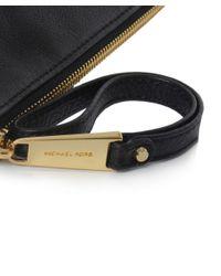 MICHAEL Michael Kors | Black Rhea Large Pouch Clutch Bag | Lyst