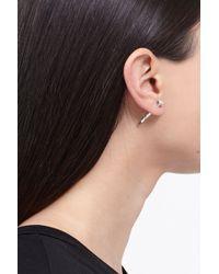 Lauren Klassen Metallic Silver Diamond Nail Earrings