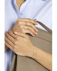 Jennifer Meyer Metallic 18-Karat Gold Diamond Four-Leaf Clover Bracelet