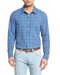 Lanai Collection | Blue Classic Fit Long Sleeve Cotton Blend Sport Shirt for Men | Lyst