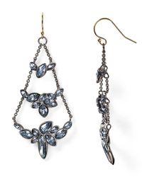 Alexis Bittar - Blue Miss Havisham Indigo Ice Clustered Marquis Chandelier Earrings - Lyst