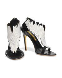 Rupert Sanderson Black Balihai Leather Sandals