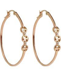 Hoorsenbuhs   Pink Rose Gold Diamond Dame Trilink Earrings   Lyst