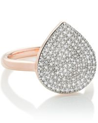 Monica Vinader - Pink Rose Gold Vermeil Diamond Alma Ring - Lyst