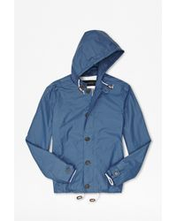 French Connection Blue Degree Bound Cotton Jacket for men