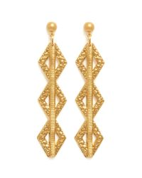 Ela Stone | Metallic Paloma Geometric Drop Earrings | Lyst