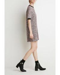 Forever 21 - Gray Contemporary Bouclé Ringer Shift Dress - Lyst