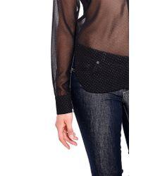 Liu Jo | Black Long Sleeve Shirt | Lyst