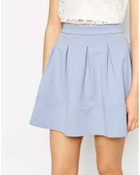 ASOS | Blue Full Textured Skater Skirt | Lyst