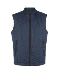 Brioni Blue Prince Of Wales Check Gilet for men