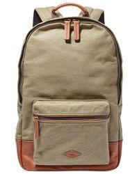 Fossil Black Estate Canvas Backpack for men