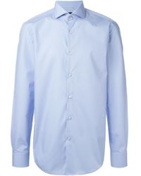 BOSS - Blue Classic Shirt for Men - Lyst