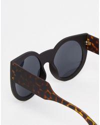 ToyShades Rafferty Oversize Round Sunglasses - Brown