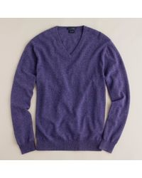 J.Crew | Purple Italian Cashmere V-neck Sweater for Men | Lyst