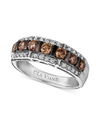 Le Vian - Brown Diamond Chocolate Diamond And White Diamond Band (1-1/6 Ct. T.w.) In 14k White Gold - Lyst