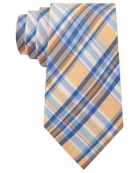 Tommy Hilfiger - Yellow Oxford Tartan Tie for Men - Lyst