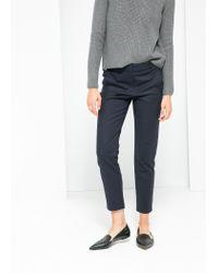 Mango - Blue Cotton Suit Trousers - Lyst