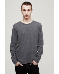 Rag & Bone - Black Tweed Long Sleeve Tee for Men - Lyst