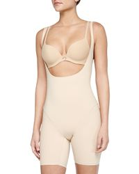 Wacoal | Black Smooth Complexion Open-bust Mid-thigh Shaper | Lyst