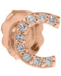 KC Designs - Pink Rose Gold Diamond C Single Stud Earring - Lyst