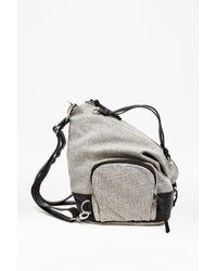 French Connection Black Delilah Canvas Backpack for men